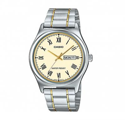 Casio MTP-V006SG-9BUDF Enticer Analog Silver-Golden Stainless Steel Watch