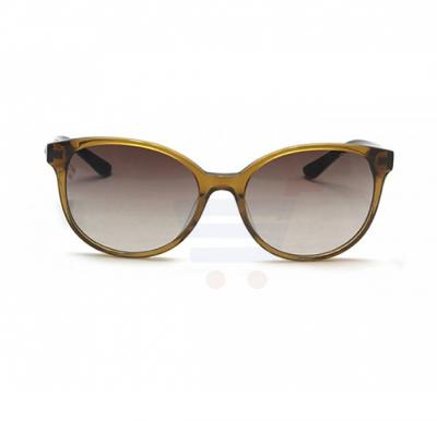 Guess Aviator Yellow Crystal/Brown/Black Pattern Frame & Brown Gradient Mirrored Sunglasses For Unisex - GU7383 45F