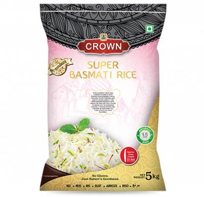 Crown Super Basmati Rice 5kg, 163114