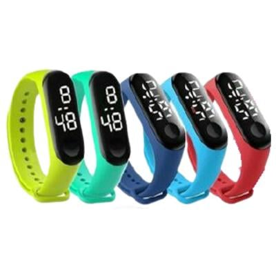 5 In 1 Led Wristband Student Watch Assorted Color