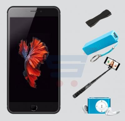 Bundle Offer Discover D7 Smartphone, 2GB RAM, 16GB Storage, Black Get MP3 Player, Power Bank, Selfie Stick And Mobile Grip Free