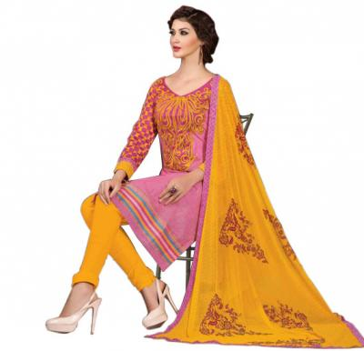 Glossy 1011 Cotton Embroidery Suit