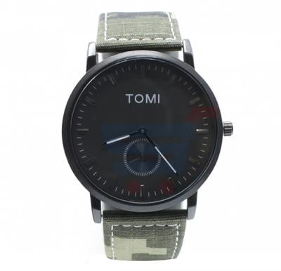 Tomi Analog Quartz Mens Watches TO73, Black Army