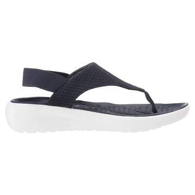 Crocs Womens Clogs Sandals Literide Mesh Flip  Navy, Size 36