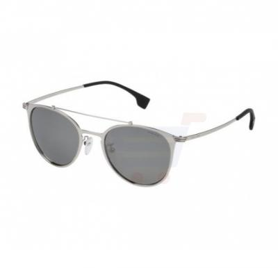 Police Oval Silver Frame & Mirrored Sunglasses For Unisex - SPL156V-579X