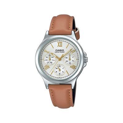 Casio Womens Silver Dial Analog Dress Watch, LTP-V300L-7A2UD