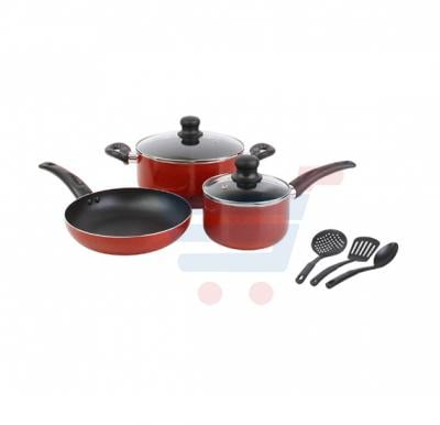 Kitchenmark 8 PCS Non Stick Cookware Set- 2110