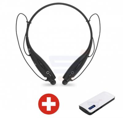 Bundle Offer 3 in 1 WITH TF AND FM, Flexible neck Strap, Bluetooth - HBS-TF-730, And Get Power Box 15000 mAh Power Bank For Smartphones & Tablets With 20CM Micro USB Cable Free