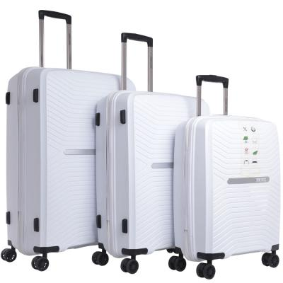Parajohn 3 Piece Travel Luggage Trolley Bag Set Color White, PJTR3153W