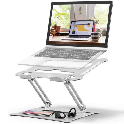 Smilee Adjustable and Multi-Angle Stand with Heat-Vent Laptop Stand for Laptop up to 17 inches Compatible for MacBook Pro/Air, Surface Laptop, SM-001, Silver