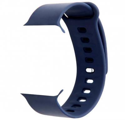 Promate Premium Adjustable Silicone Apple Watch Strap 38mm/40mm, RARITY-38ML, Blue