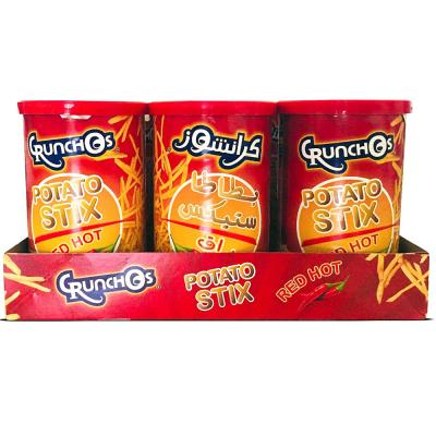 Crunchos Natural Chilli Potato Chips 4x125gm At Special Price