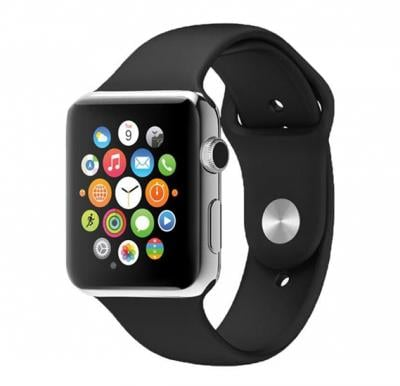 G-Tab Hero,Smart Watch Silicone Band For iOS,Black ,W101