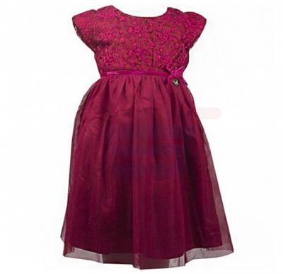 Amigo 7  Children Dress  Pure Red - 6-9M - 1222B