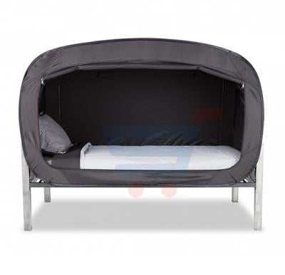 Privacy POP Bed Tent, With  Double sided zippers - Black