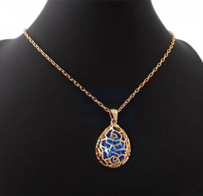 18k Real Gold Plated Big Titanic Crystal with CZ stone Sparkle Pendant For Women