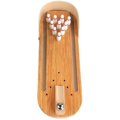 Bowlingspil Wooden Bowling Ball Board Game Kids Children Educational Toy