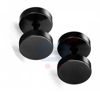 Titanium Steel Ear Piercing For Men Black