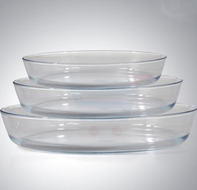 Royalford 3Pcs Oval Glass Baking Tray 1.6+2.4+3L - RF8804