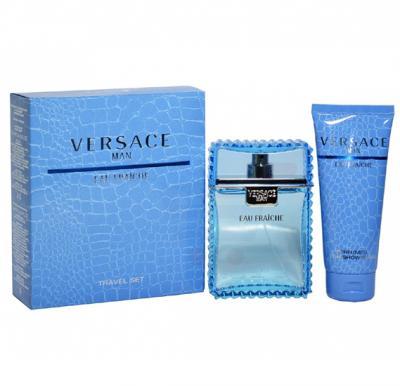 Versace Eau Fraiche Gift Set EDT 100ml with Shower Gel 100ml For Men