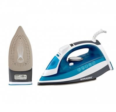 Sonashi Steam Iron With Ceramic Soleplate -2400W (D-Blue-White), SI-5075C