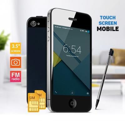 F8 Touch Screen Dual Sim Smartphone, 3.5 Inch Black