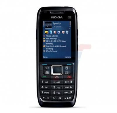 Nokia E51 Symbian Phone, 2.0 Inch LCD Display, WiFi, Bluetooth, USB, FM Radio - Black