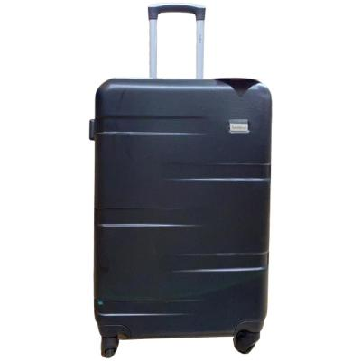 Traveller TR-1017 ABS With Pu Lining 4 Wheel Trolley 24 Inch Black