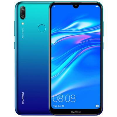 Huawei Y7 Prime 2019 3GB RAM 64 GB, 6.26 inch FullView HD+ Dewdrop Display, Smartphone with Dual AI Camera, Android Sim-Free Mobile Phone, 4000 mAh Large Battery, Dual SIM Version, Aurora Blue