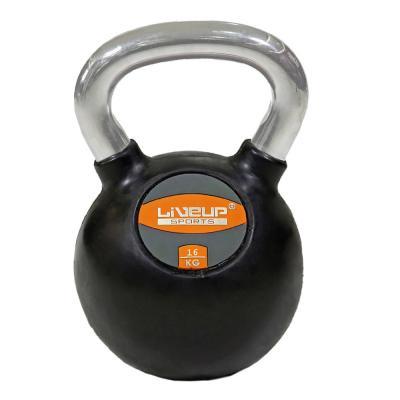 Liveup Rubber Kettle Dumbbell 16kg LS2044, Black