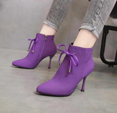Women Boot Shoes-Purple Size-39