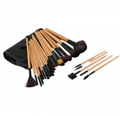 Set Of Makeup Brushes 24 Pcs Brown