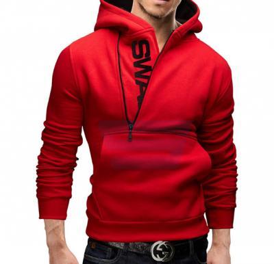 Mens SWAG Hoodie Casual Design Fashion Coat Red (Medium) - 1526