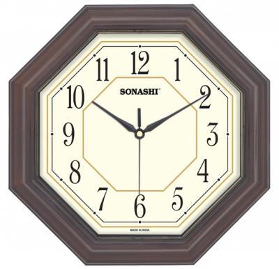 SONASHI SWC-803 WALL CLOCK 27.5cm-Dark Brown