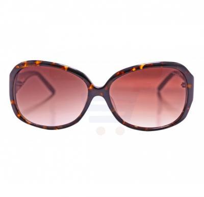 Aigner Round Havana Frame & Brown Gradient Mirrored Sunglasses For Women - AI-SF-05A-COL2