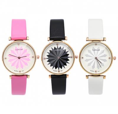 3 In 1 Bundle Offer Langar Lotus Design Watch Assorted Colors