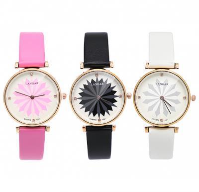 3 In 1 Bundle Offer Langar Lotus Design Watch Assorted Colors