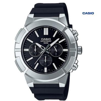 Casio MTP-E500-1AVDF Chronograph Watch For Men, Black