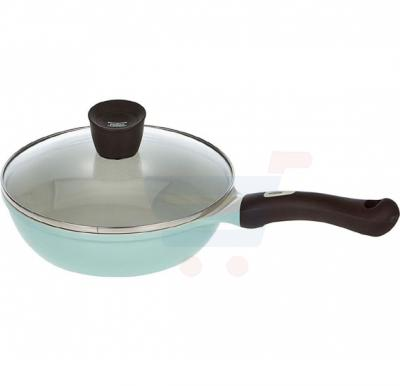 Pallas Ceramic Eco Handy Fry Pan with lid 24cm, Green