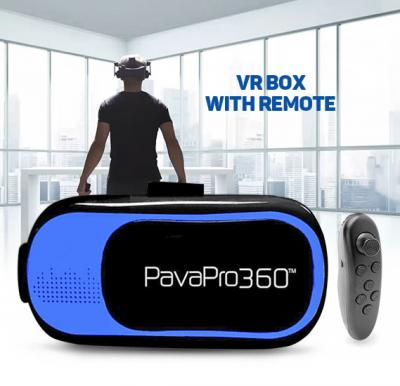 PavaPro 360 Virtual Reality Muti-Colour Headset With Free Gaming Controller 3D Movies & Games For 3.5