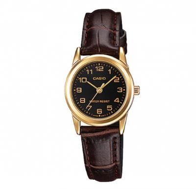 Casio Genuine Leather Watch For Women, LTP-V001GL-1BUD
