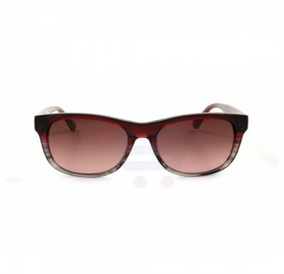 Lacoste Rectangular Red / Multi Frame & Brown Pink Gradient Mirrored Sunglasses For Unisex - L736S-615
