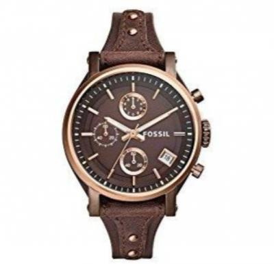 Fossil Boyfriend Chronograph Brown Leather Watch For Women - ES4286