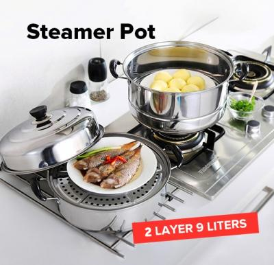 Olympia double layer Multipurpose stainless steamer pot OE-37