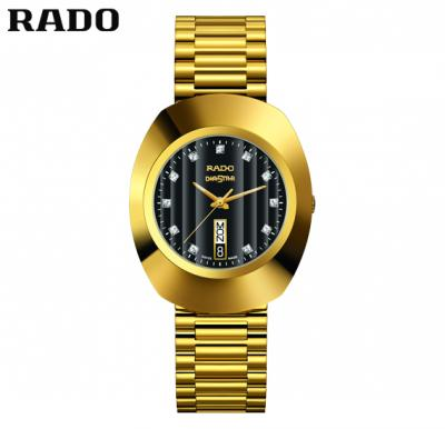 Rado R12304313 The Original Black Dail Men Watch, Gold
