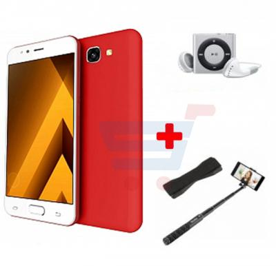 Crescent Air 4 Smartphone, Android 6.0, 5.5 Inch HD Display, 2GB RAM, 16GB Storage, Dual Camera, Wifi- Red And Get Free Mp3 Player, Selfie Stick, Mobile Grip