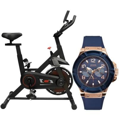 Buy Guess W0247G3 Analog Blue Dial Mens Watch and Get Ta Sports Spin Bike Free