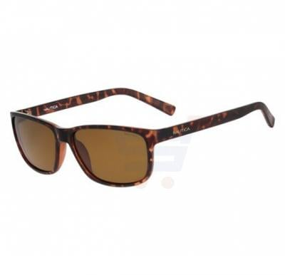 Nautica Rectangular Tortoise Shell Frame & Dark Brown Gradient Mirrored Sunglasses For Men - N3611SP-206