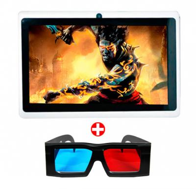 Uniontouch 7inch Wifi tablet, Android 4.4, Quad Core, 8GB Storage with 3D Glasses