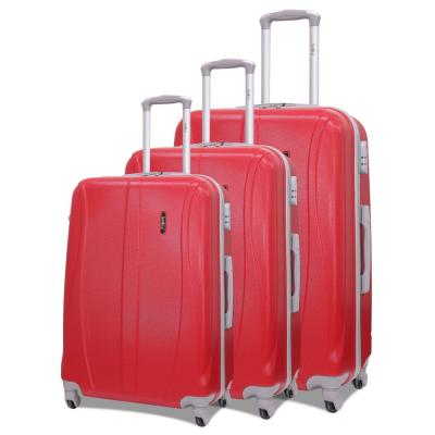 Traveller 3pcs ABS Trolly 20,24 And 28 size Red, TR-3305